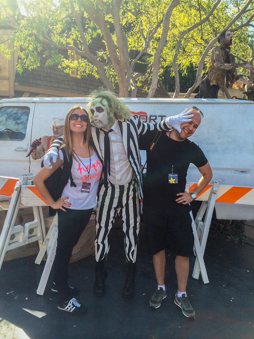 Beetle Juice in Universal Park Los Angeles