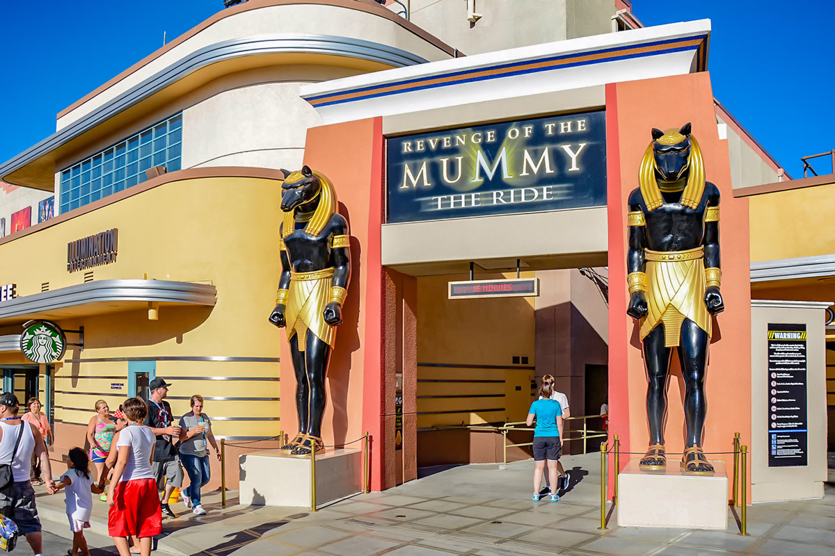 Los Angeles Universal Park Mummy Ride