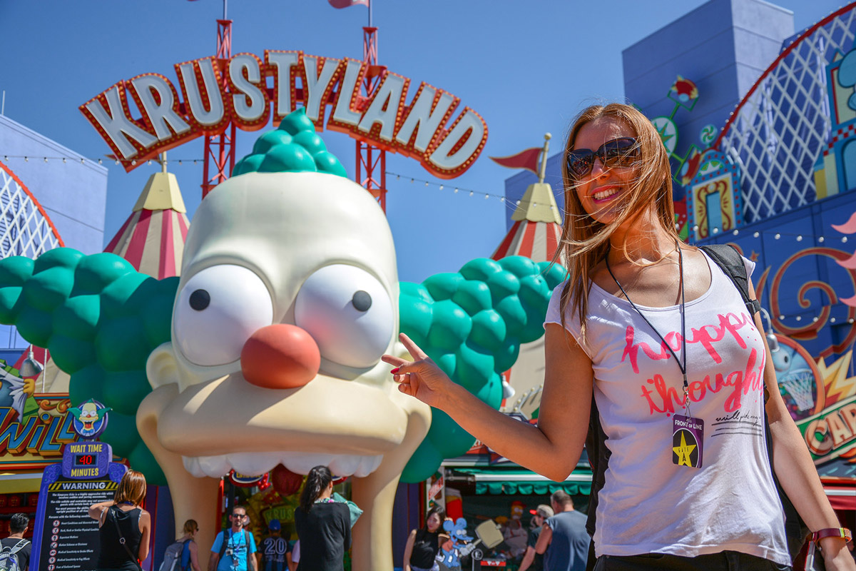 Los Angeles Universal Park krustyland Ride