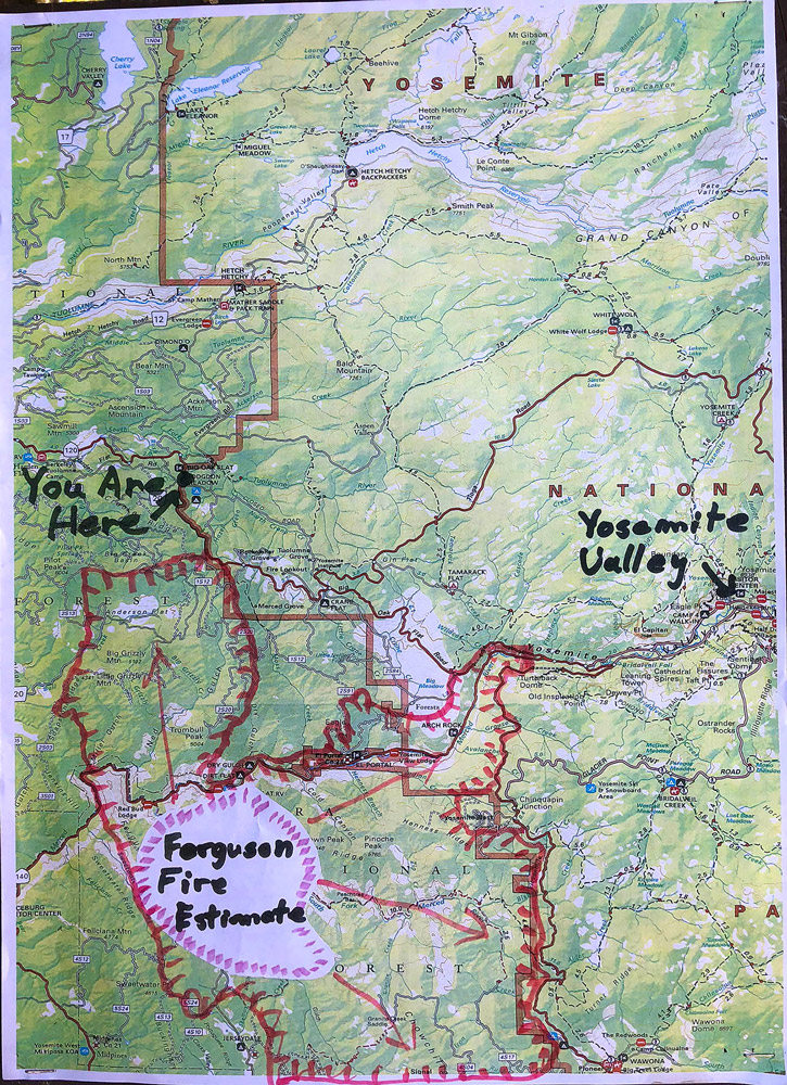 Yosemite Valley vs Ferguson Fire