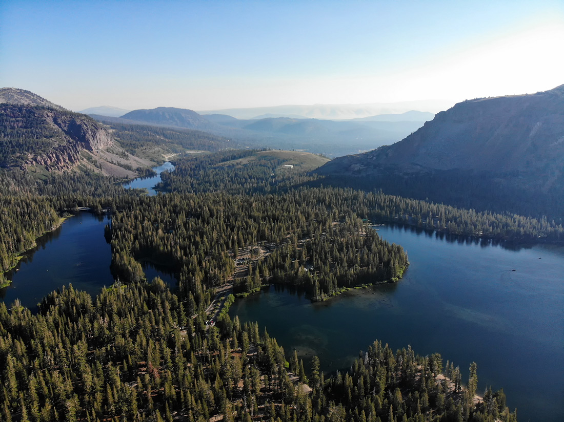 Mammoth Lakes drone view