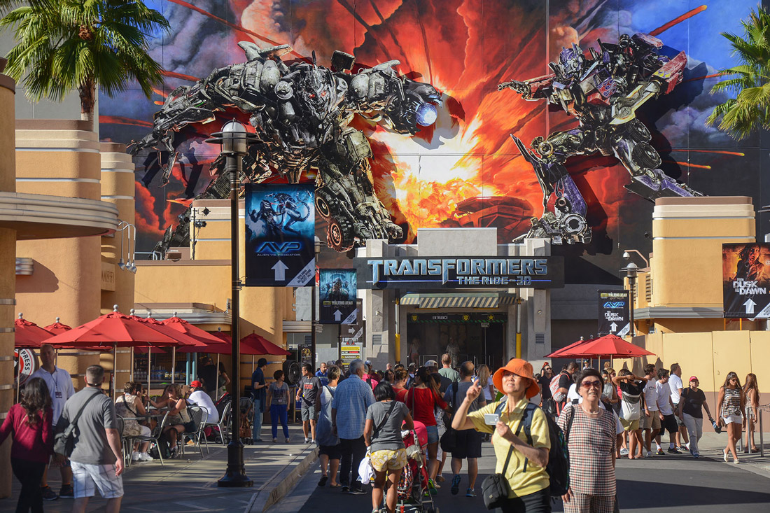 Los Angeles Universal Park Transformers Ride