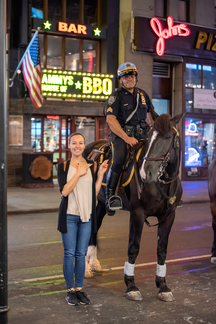 New York horse trooper time square