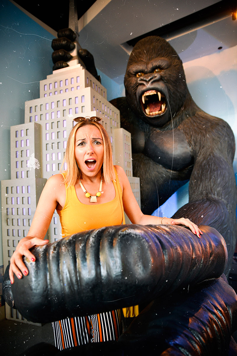 King Kong statue at Hollywood Los Angeles
