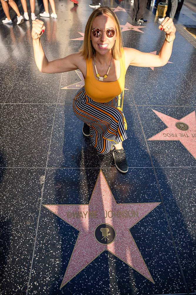 Tugce at Los Angeles walk of fame
