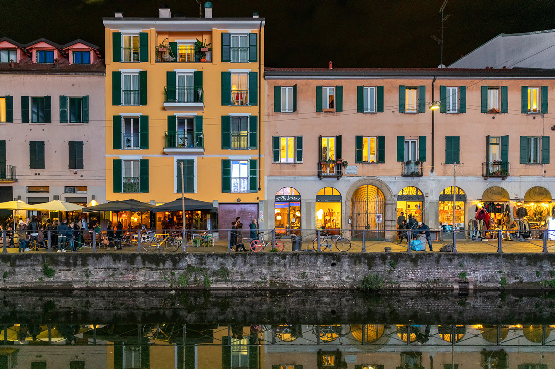 Buildings and cannal in Navigli Milano