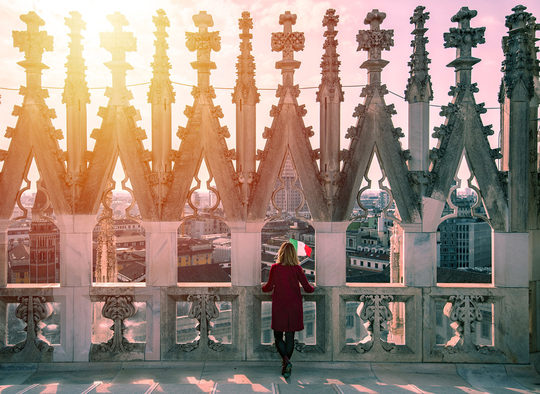 Tugce at the roof of Duomodi Milano