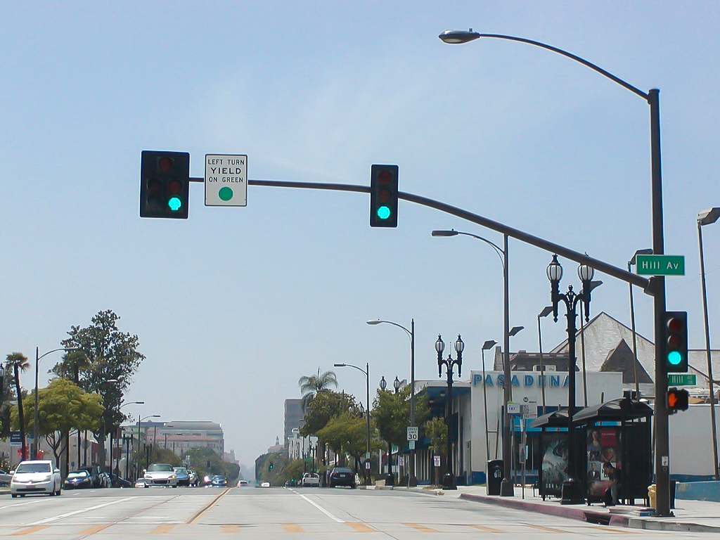 Los Angeles left turn sign