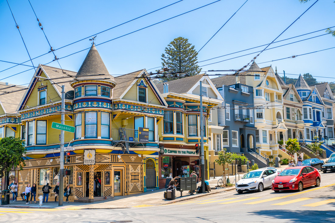 colorful house at San Francisco Haight Ashbury