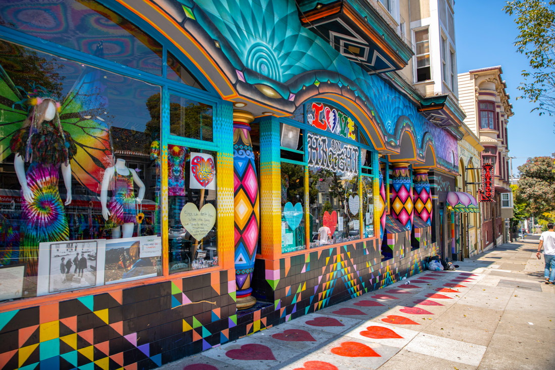 Colorful shop at San Francisco Haight Ashbury