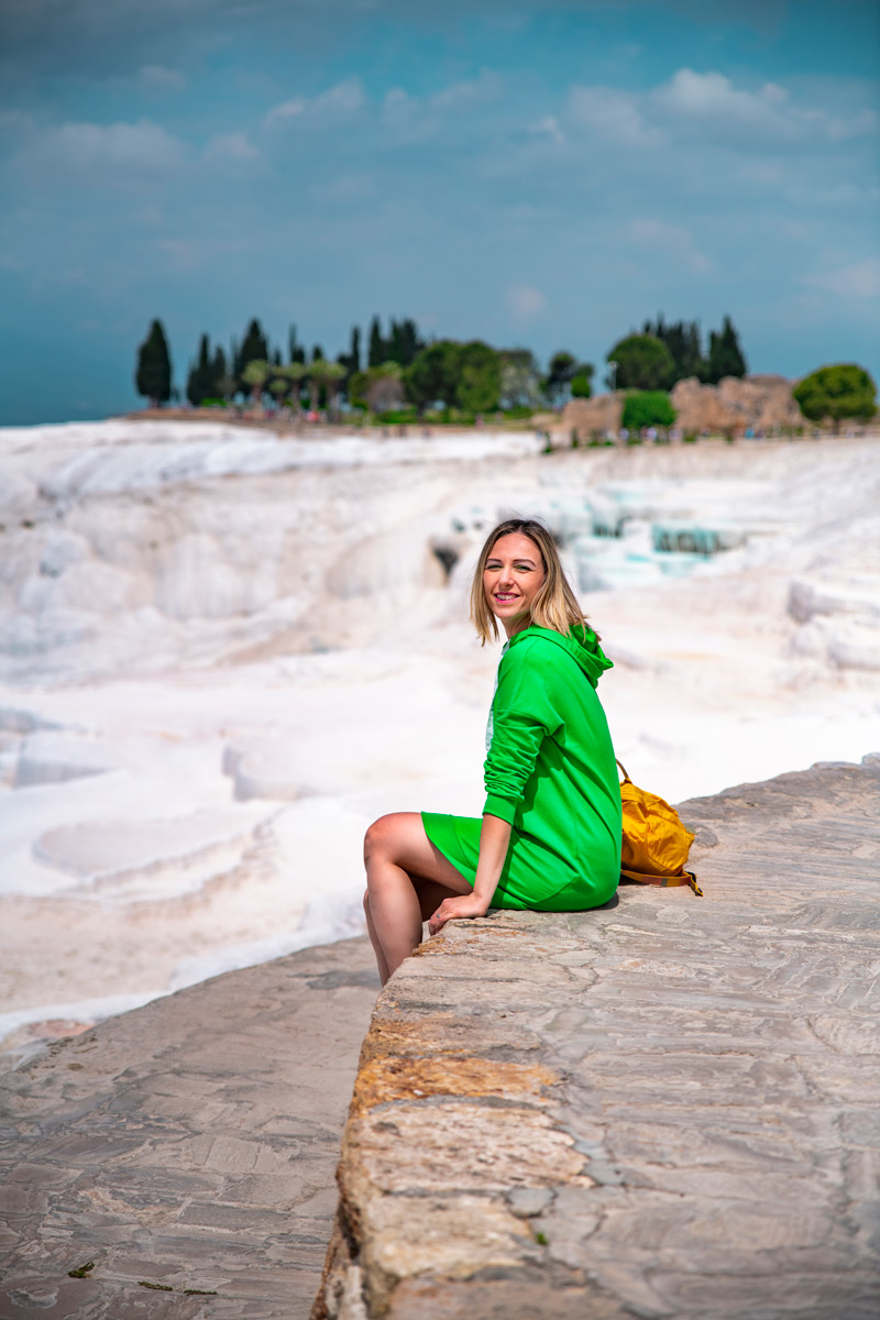 Pamukkale travertens as white as cotton